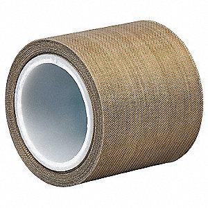 "Utility Slick-Surface Tape, 12"" X 5 yd., 8.20 mil Thick, Brown Coated Cloth, 1 EA"