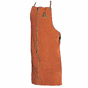 Welding Bib Apron,Leather,36 x 24 In