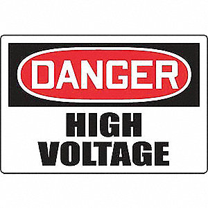 "Electrical Hazard, Danger, Plastic, 24"" x 36"", With Mounting Holes, Not Retroreflective"