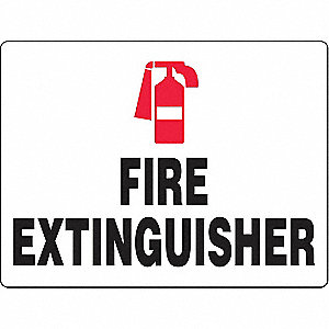 Fire Extinguisher Sign,24 x 36In,FEXT