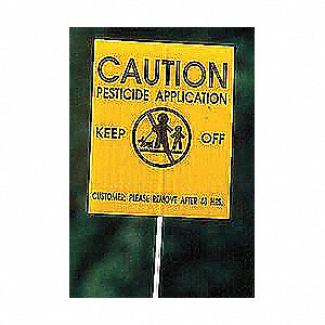 Caution Sign,4x5In,BK/YEL,ENG,SURF,PK25