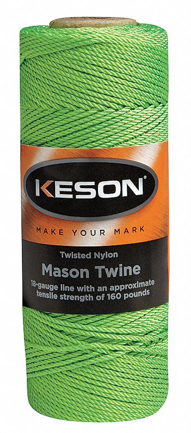 Mason Twine 1090 Ft L Nylon Green. Model: GT1090 plant supports, garden trellis, garden supplies, organic garden supplies, vegetable garden supplies