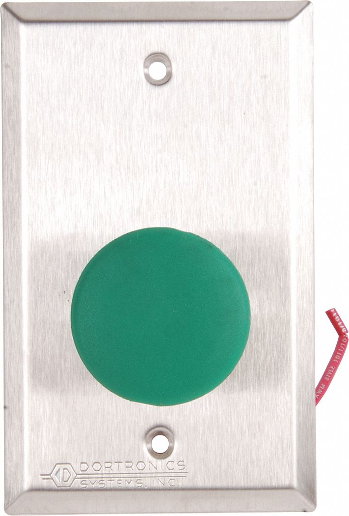 Push Button,  Single Gang,  4 1/2 in Height,  2 3/4 in Width,  Stainless Steel