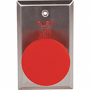Push to Exit Button, 24VDC, Red Button