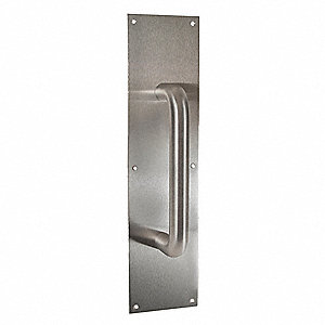 "DOOR PULL PLATE 3.5X12"" W/ 10"" CTC PULL"