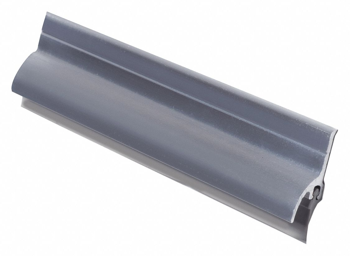 Door Sweep, Mill Aluminum, 36 in Length, 1 1/2 in Flange Height, 3/4 in Insert Size