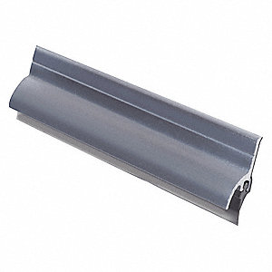 "Door Sweep, Anodized Aluminum, 72"" Length, 1-1/2"" Flange Height, 3/4"" Insert Size"