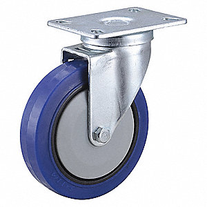 "5"" Light-Medium Duty Swivel Plate Caster, 308 lb. Load Rating"