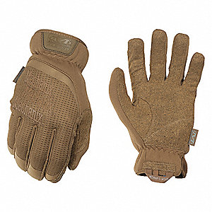 "Tactical Glove, Coyote Tan, 2XL, 11"" L, PR"