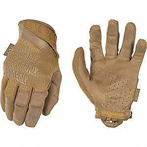 "Tactical Glove, Coyote Tan, L, 9"" L, PR"