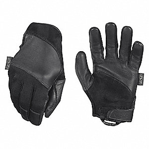 "Tactical Glove,Black,S,7"" L,PR"