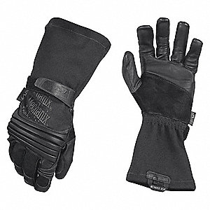 "Tactical Glove, Black, L, 15"" L, PR"