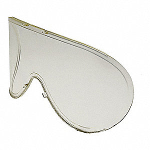 Replacement Goggle Lens,  Anti-Fog, Scratch-Resistant,  Polycarbonate,  Light Yellow Lens Color
