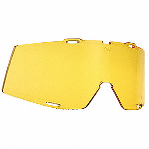 Replacement Goggle Lens,  Anti-Fog, Scratch-Resistant,  Polycarbonate,  Yellow Lens Color