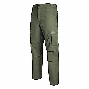 "Men's Tactical Pants. Size: 32"", Fits Waist Size: 32"", Inseam: 36"", OD Green"