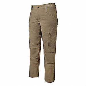 "Women's Tactical Pants. Size: 0, Fits Waist Size: 0"", Inseam: 34"", Desert Tan"