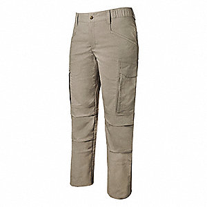 "Women's Tactical Pants. Size: 2, Fits Waist Size: 2"", Inseam: 34"", Khaki"
