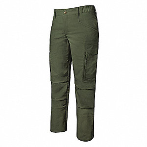 "Women's Tactical Pants. Size: 2, Fits Waist Size: 2"", Inseam: 34"", OD Green"