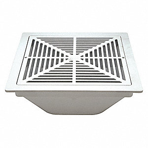 Zurn Pvc Square Floor Drain No Hub Pipe Dia Drains