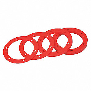 Cast Iron, Stainless Steel Toilet Flange Spacer Kit, Red, For Use With Most Toilets