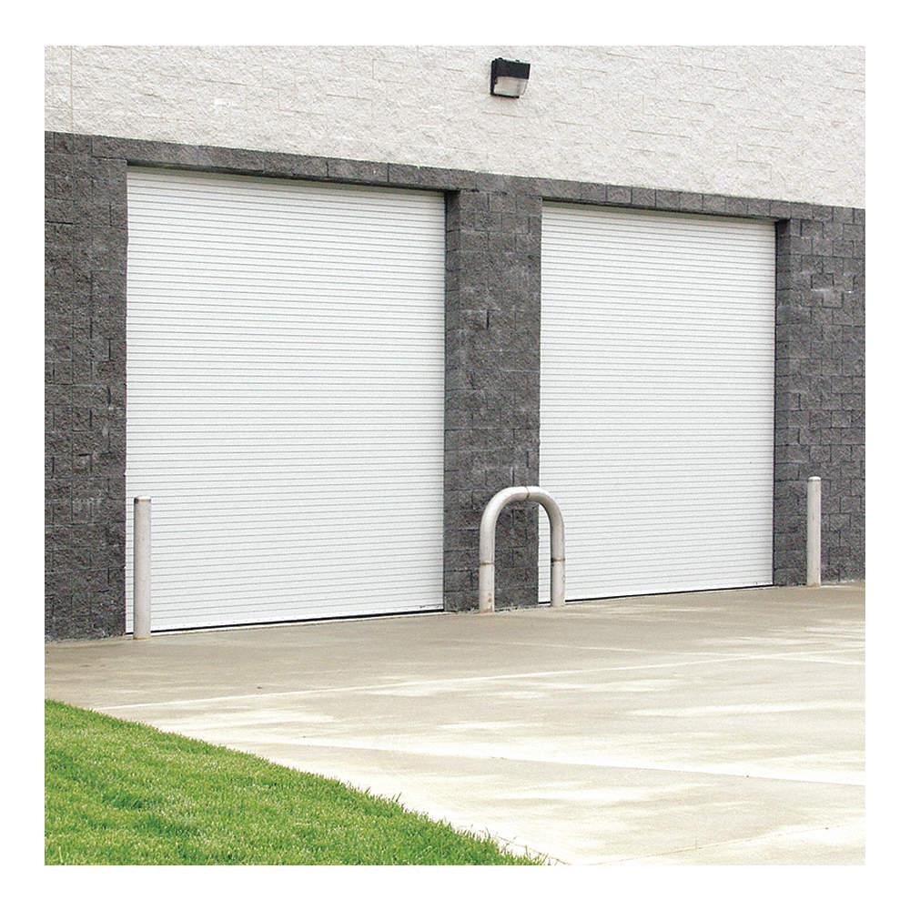 American Garage Door Face Mount White Rolling Slat Door Opening