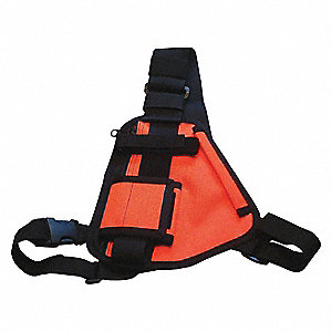 Radio Harness, Orange Chest Harness