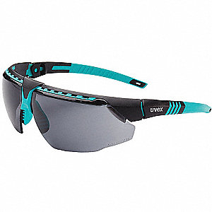 Uvex Avatar Anti-Fog, Hydrophilic, Hydrophobic, Scratch-Resistant Safety Glasses, Gray Lens Color
