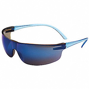 Uvex SVP206 Scratch-Resistant Safety Glasses, Blue Mirror Lens Color