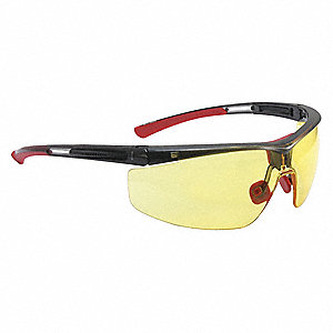 North Adaptec® Anti-Fog, Hydrophilic, Hydrophobic, Scratch-Resistant Safety Glasses, Amber Lens Colo