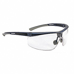 Safety Glasses,Blue Frame,Narrow