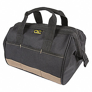 "14-Pocket Polyester General Purpose Tool Tote, 8""H x 12""W x 8-1/2""D, Black"