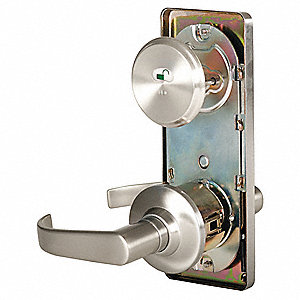 Door Lever Lockset,  Satin Nickel
