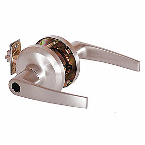 Door Lever Lockset, Mechanical, Not Keyed, Cylindrical