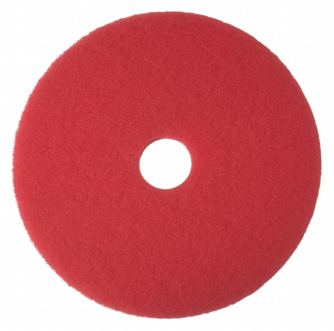 13 in Non-Woven Polyester Fiber Round Buffing Pad, 175 to 600 rpm, Red, 5 PK