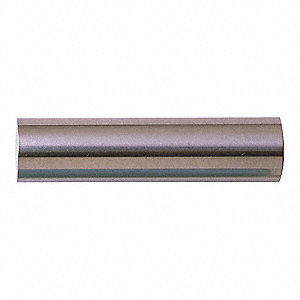 "High Speed Steel Reamer Blank, Fractional Inch, 1/4"" Size, 4"" Length, Bright Finish"