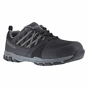 "3""H Women's Athletic Shoes, Plain Toe Type, Black, Size 8-1/2"