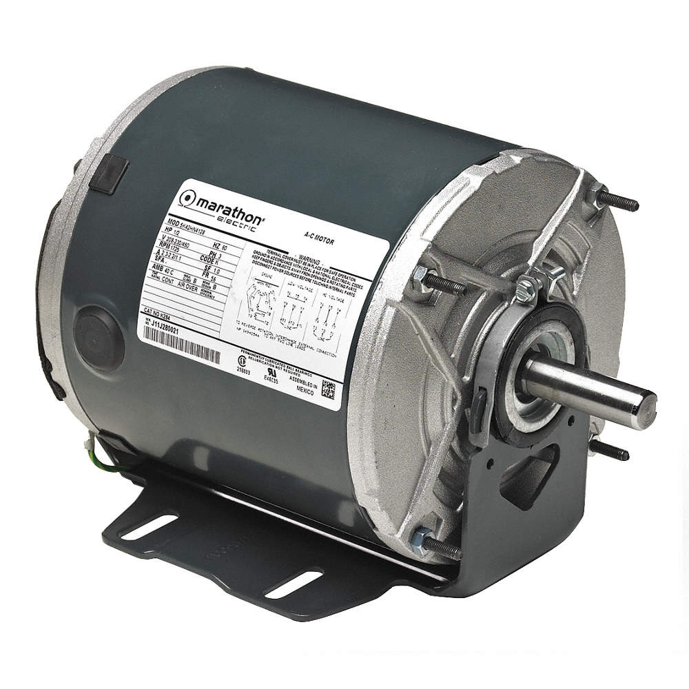 MARATHON MOTORS 1/4 HP Belt Drive Motor, 3-Phase, 1725 Nameplate RPM,  230/460 Voltage, Frame 48 - 403T94|5K32GN48 - GraingerGrainger