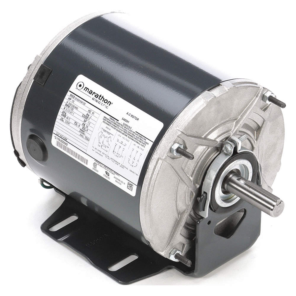 [QMVU_8575]  MARATHON MOTORS 1/2 HP Belt Drive Motor, 3-Phase, 1725 Nameplate RPM,  208-230/460 Voltage, Frame 56 - 403T97|5K42HN4128 - Grainger | 1 Hp Marathon Motor Wiring Diagram |  | Grainger