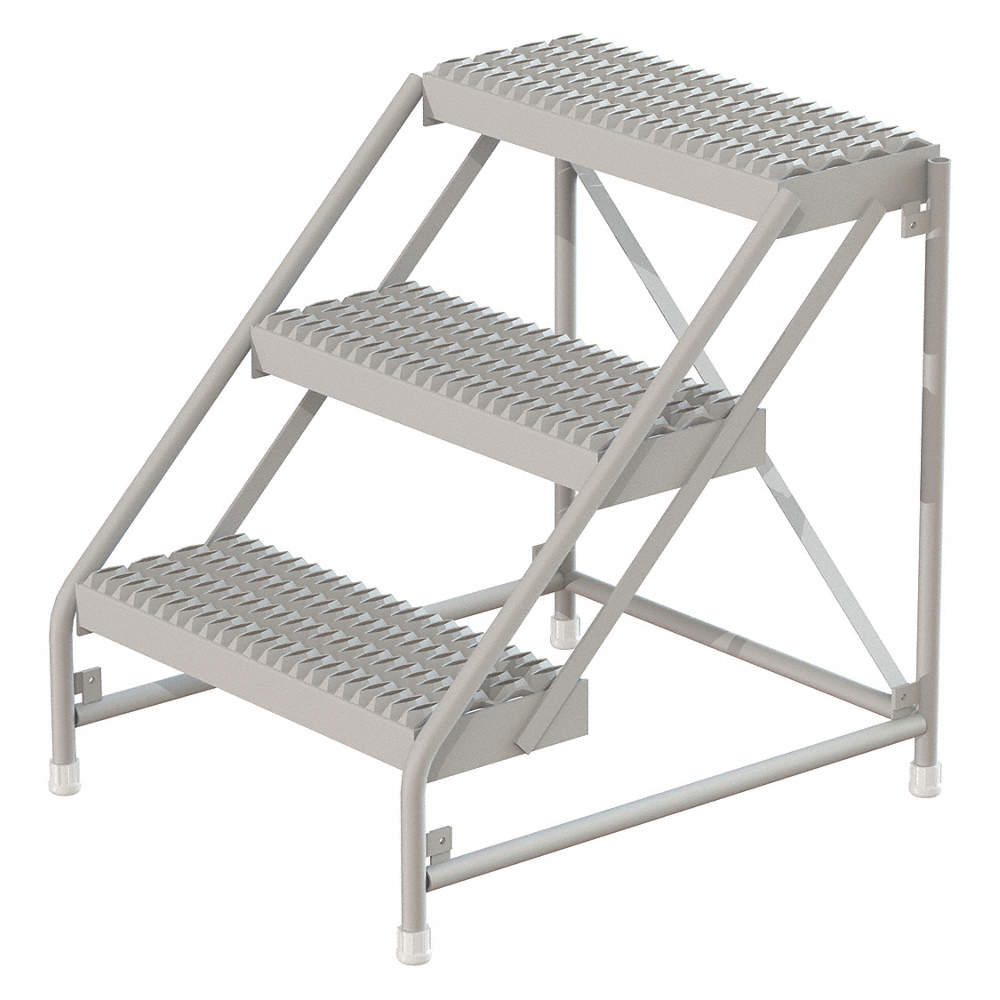 Cool Aluminum Step Stand 30 Overall Height 500 Lb Load Capacity Number Of Steps 3 Machost Co Dining Chair Design Ideas Machostcouk
