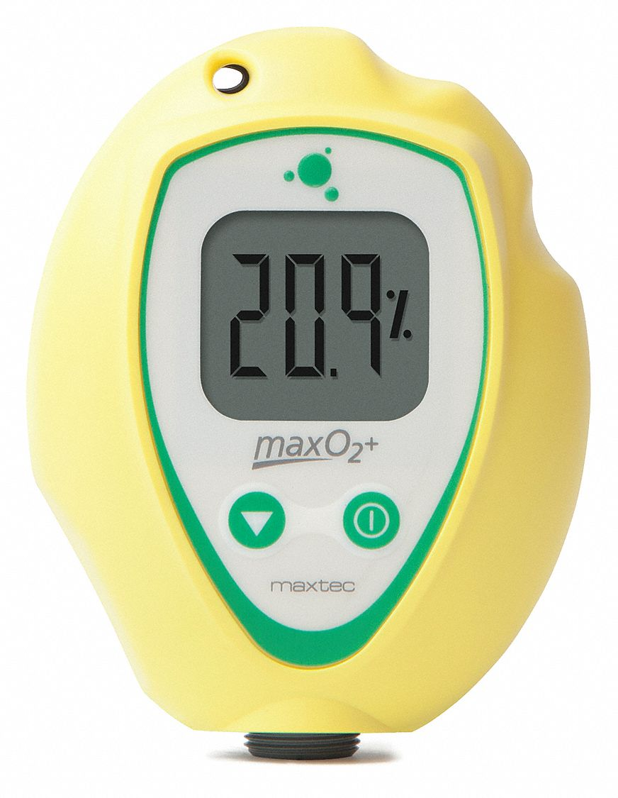 Oxygen Analyzer,  Measures O2,  0-99.9% Measurement Range,  4 in Height,  3 in Width