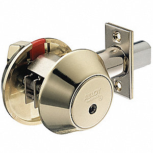 Heavy-Duty H2X-Series Tubular Drive-In Deadbolt, Double-Cylinder
