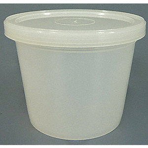Wide Mouth Round Specimen Container, Sampling, Plastic, 118mL, Clear, 250 PK