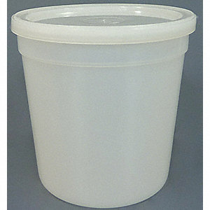 Wide Mouth, Round, Sampling, HDPE, 473mL, 100 PK