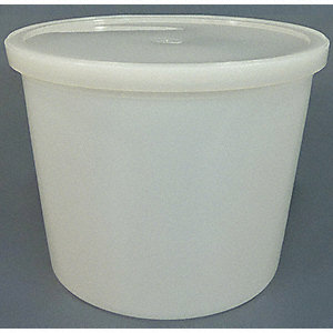 Wide Mouth Round Specimen Container, Sampling, Plastic, 5L, Clear, 25 PK