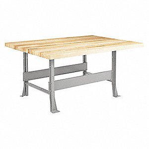 "Work Station,Maple,Metal Frame,28"" D"