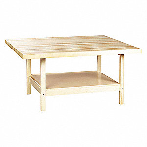 "64"" x 54"" x 31-1/4"" Wood Work Station with 500 lb. Load Capacity, Maple"