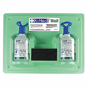 Eye Wash Station, 16 oz., Green