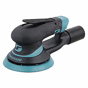 "Air Random Orbital Sander, 5"" Hook-and-Loop, 3/32"" Orbit Dia., Vacuum, 0.30 HP"