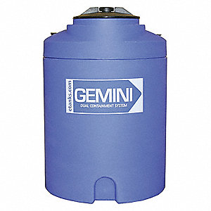 15-gal. Closed Top Vertical Double Wall Storage Tank
