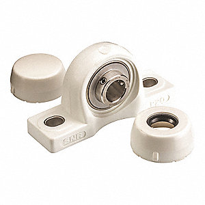 "Pillow Block Bearing, Number of Bolts: 2, 3/4"" Bore Dia."